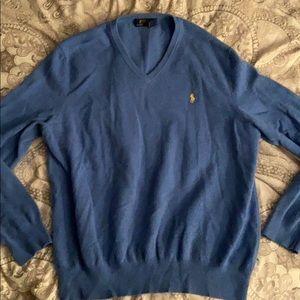 Men's XL Ralph Lauren Polo v neck wool sweater